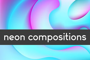 12 neon compositions + cards