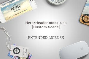 Hero/Header mock-ups - Ext. License