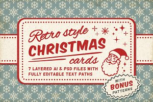 Retro Style Christmas Cards vol.1