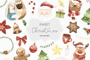 Sweet Watercolor Christmas