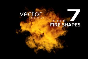 Vector fire shapes