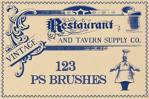 Vintage Restaurant Brushes