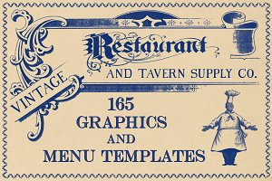 Vintage Restaurant Graphics & Menus