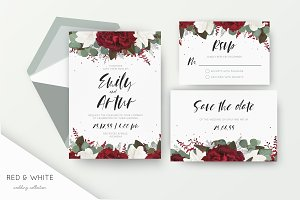 Wedding collection - Red & white