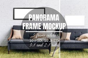 Panoramic Poster Mockup Bundle