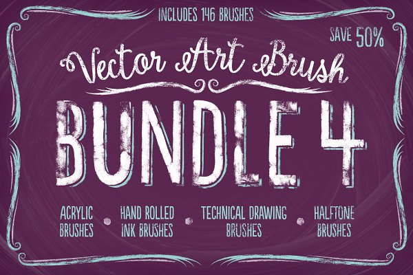 Vector Art Brush Bundle 4