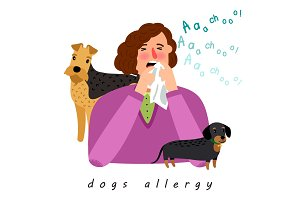 Dog allergy woman