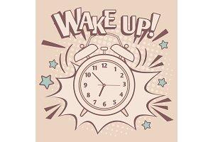 Vintage alarm wake up poster