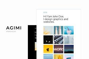 Agimi - Clean Portfolio Template