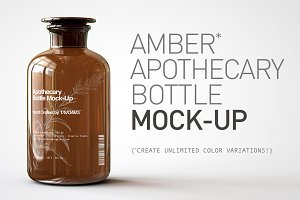 Apothecary Bottle Mock-Up