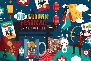 Mid Autumn Festival - China folk kit