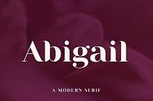 Abigail   A Modern Serif