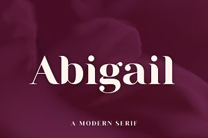 Abigail | A Modern Serif