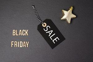 Black background and black price