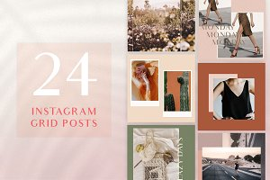 Chic Instagram Grid Post Templates