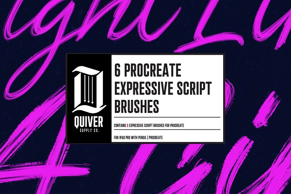 Photoshop Brushes: Quiver Supply Co. - Procreate Expressive Script Brushes