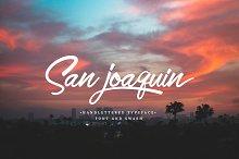 San Joaquin font by  in Script Fonts