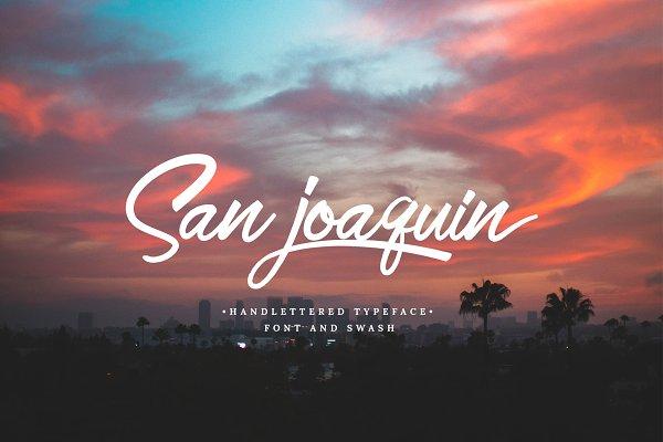 Script Fonts: emyself design - San Joaquin font