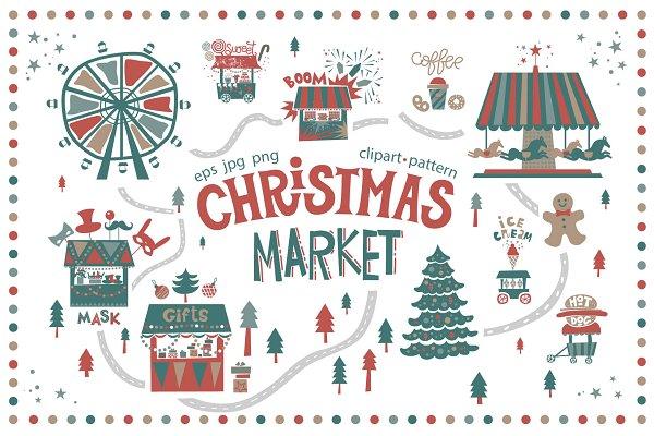 Graphics: Maru_art - Christmas market. Graphic set