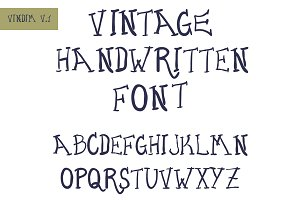 Vintage handwritten font
