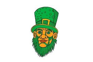 Irish Leprechaun Mono Line Color