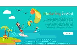 Kitesurfing Festival Banner. Style