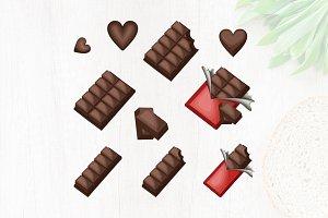 Sweet Chocolate Bar Block Piece Wrap