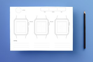 Apple Watch Sketchpad • A4 PSD, PDF