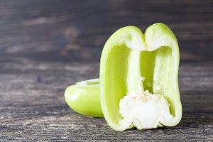 green pepper half