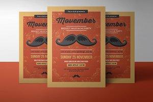 Movember Party Flyer - V887