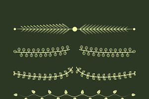 Ornaments collection vector design
