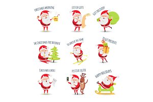 Santa Claus Routine. Collection of