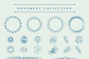 Ornaments collection vector design