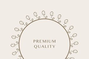 Premium ornament round design vector