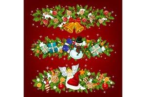 New Year holiday garland
