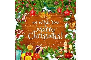 Christmas winter greeting card