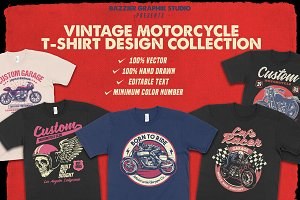 Vintage Motorcycle T-shirt design