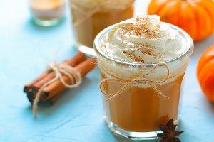 Pumpkin Spice Latte, Coffee, Milksha