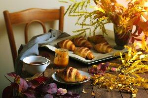 Autumn Still Life, Freshly Baked Cro