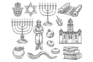 Judaism religion symbols, jewish