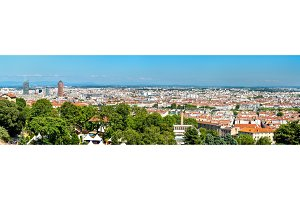 Panorama of Lyon from the Fourviere