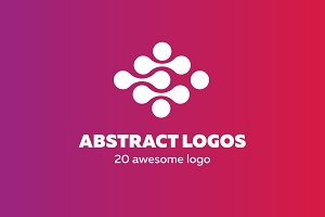 20 abstract logo