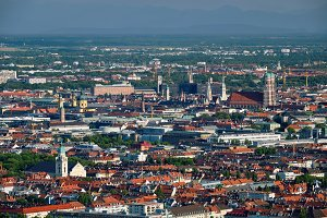 Aerial view of Munich. Munich