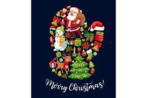 Santa Claus glove