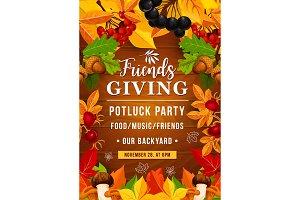 Friendsgiving potluck party