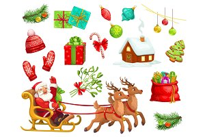 Christmas icons and characters