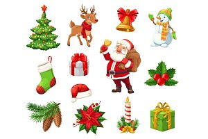 Winter Christmas holiday vector