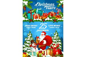 Christmas holiday party poster
