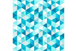 Geometric Winter Seamless Pattern