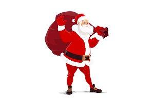 Christmas Santa Claus with bag